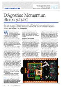 2012 - Hi-Fi News Review - Dan D'Agostino Momentum S200 Stereo Amplifier - Norman Audio