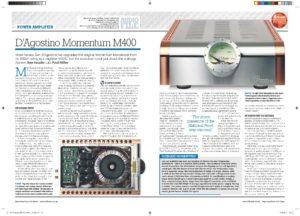 2016 - Hi-Fi News Review - Dan D'Agostino Momentum M400 Mono Amplifier - Norman Audio