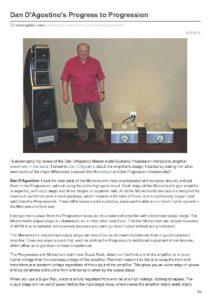 2017 - Stereophile Review - Dan D'Agostino Progresison Amplifier - Norman Audio