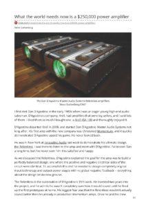 2018 - CNet Review - Dan Dagostino Relentless Mono Amplifier - Norman Audio