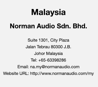 Malaysia Contact Us - Norman Audio