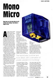 2012 - Hi-Fi World - Benz Micro Ace SH