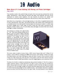 2013 - 10 Audio - Benz Micro LP-S & Gullwing SLR