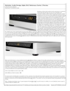 2016 - Computer Audiophile - Alpha DAC Reference Series 2