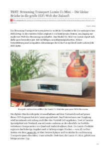 2019 - Lite Magazine (German) - Lumin U1 Mini