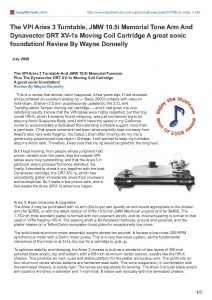 2008 - Enjoy The Music Review - VPI Aries 3D - Norman Audio