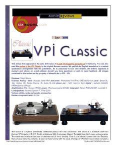 2010 - 6 Moons Review - VPI Classic - Norman Audio