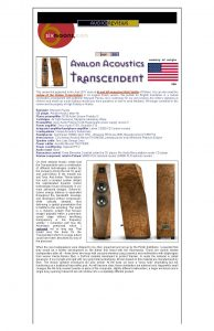 2011 - 6Moons Review - Avalon Transcendent - Norman Audio
