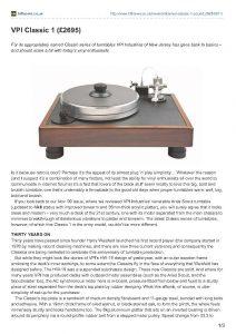 2011 - Hi-Fi News Review - VPI Classic - Norman Audio