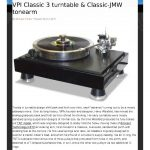 2011 - Stereophile Review - VPI Classic Signature - Norman Audio