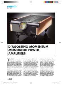 2013 - Australian Hi-Fi Review - Dan D'Agostino Momentum M300 Mono Amplifier - Norman Audio