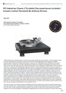 2013 - Enjoy The Music Review - VPI Classic Signature - Norman Audio