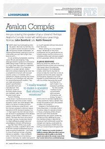 2013 - HiFi News - Avalon Compas - Norman Audio