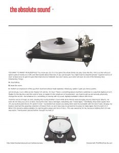 2013 - The Absolute Sound Review - VPI Scout - Norman Audio