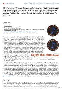 2014 - Enjoy The Music Review - VPI Nomad - Norman Audio
