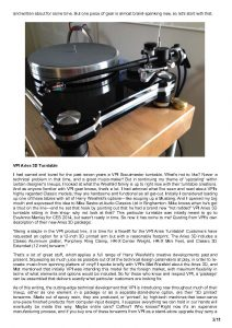 2014 - Positive Feedback Review - VPI Aries 3D - Norman Audio