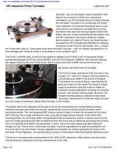 2017 - Audiophilia Review - VPI Prime - Norman Audio