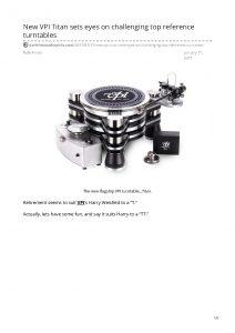 2017 - Part Time Audiophile Review - VPI Titan - Norman Audio