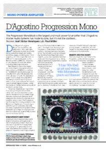 2018 - Hi-Fi News Review - Dan D'Agostino Progresison Mono Amplifier - Norman Audio