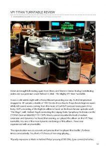 2018 - Mono & Stereo Review - VPI Titan - Norman Audio