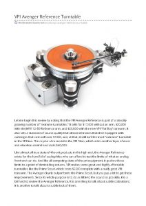 2018 - The Absolute Sound Review - VPI Avenger Reference