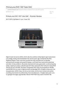 2019 - Positive Feedback - PrimaLuna EVO 100 DAC - Norman Audio