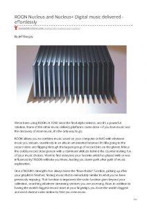 2019 - Tone Publication Review - Roon Nucleus - Norman Audio