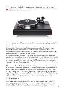 2019 - Tone Publication Review - VPI HW-40 - Norman Audio