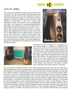 Audio Activity Review - Avalon Idea - Norman Audio