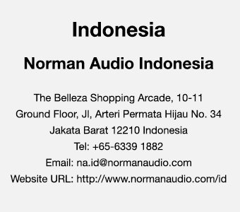 Indonesia Contact Us - Norman Audio