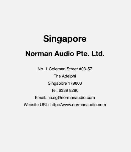 Singapore Contact Us - Norman Audio