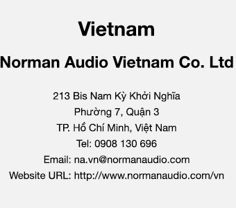 Vietnam Contact Us - Norman Audio