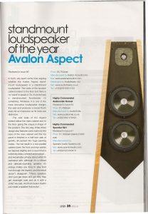 HiFi Plus Award - Avalon Aspect - Norman Audio