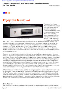 2002 - Enjoy The Music - Ayre Ax-7e