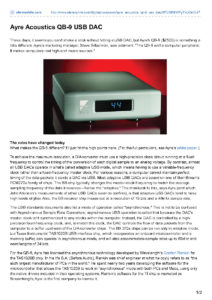2009 - Stereophile - Ayre QB-9