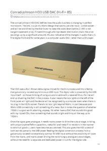 2012 - Hi-Fi Plus - Conrad Johnson HD3 DAC