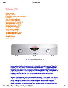 2014 - Audiophile FR (French) - YBA Passion IA350A