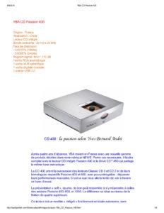 2014 - Audiophile FR (France) - YBA Passion CD430