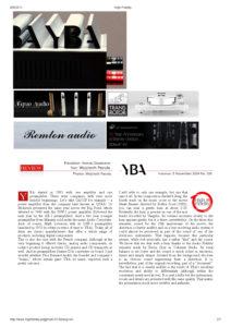 2014 - High Fidelity - YBA Passion PRE550A & AMP650