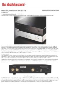 2014 - The Absolute Sound - Musical Surroundings MyDAC II