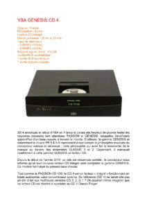 2015 - Audiophile FR (French) - YBA Genesis CD4