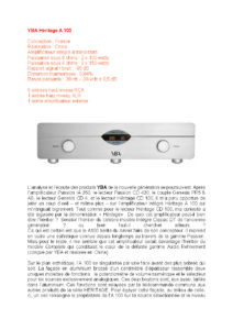 2016 - Audiophile FR (French) - YBA Heritage A100
