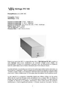 2019 - Audiophile FR (France) - YBA Heritage PH100