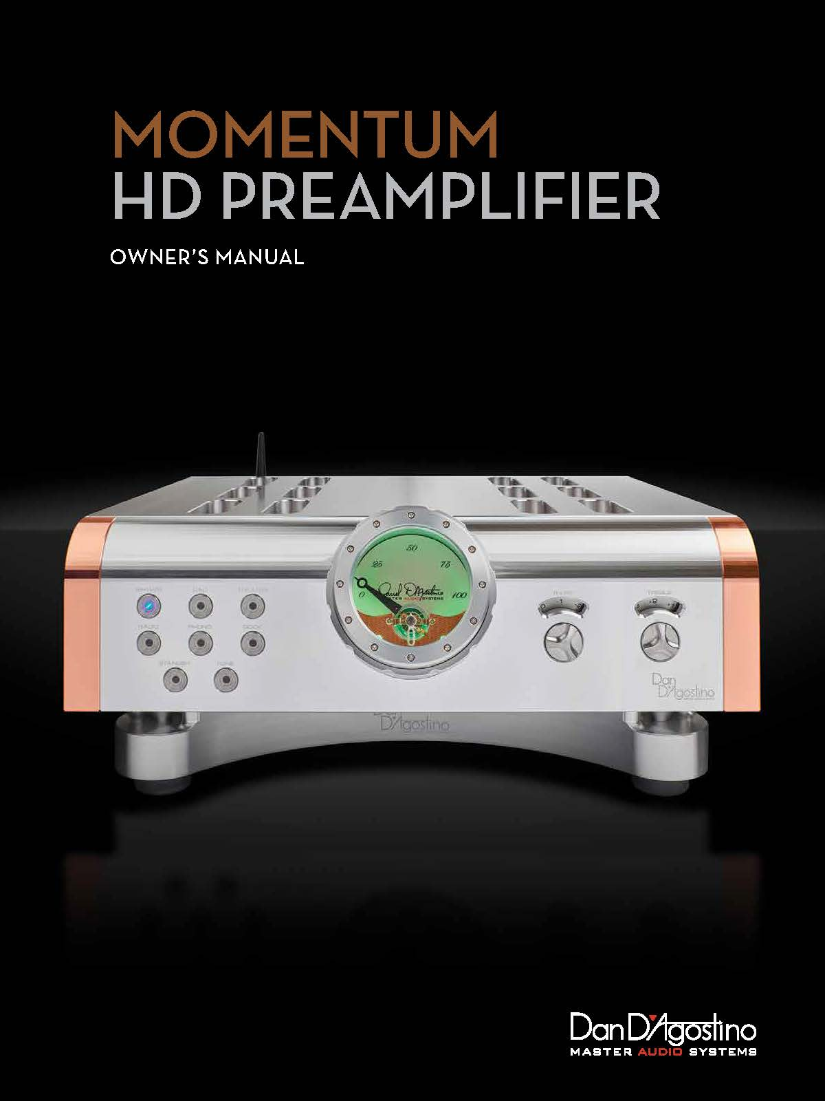 Dan D'Agostino Momentum HD Preamplifier Owner Manual - Norman Audio