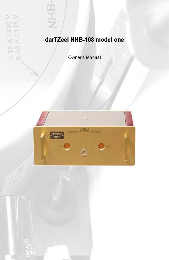 DarTZeel NHB-108 User Manual - Norman Audio