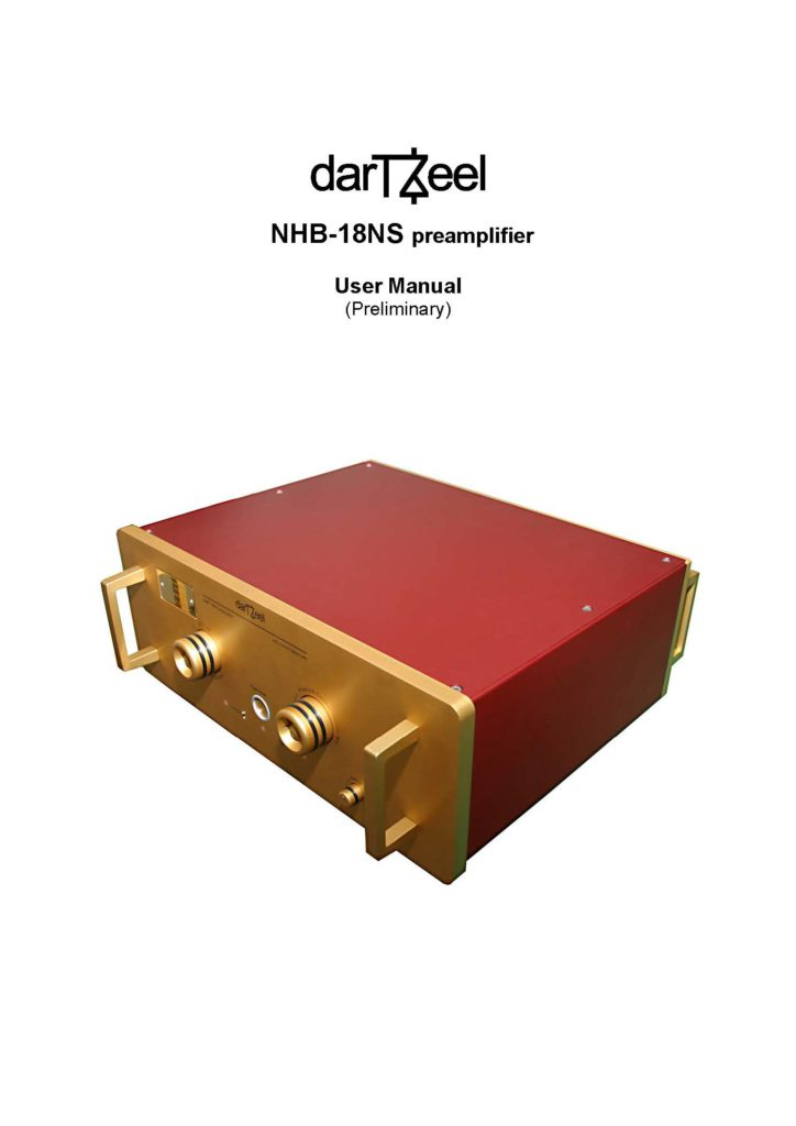 DarTZeel NHB-18NS User Manual - Norman Audio