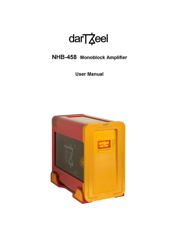 DarTZeel NHB-458 User Manual - Norman Audio