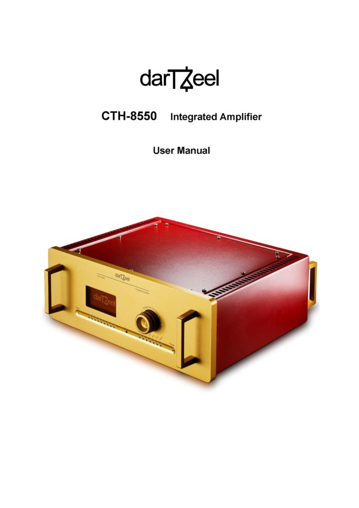 Dartzeel CTH-8550 User Manual - Norman Audio