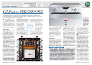 Hi-Fi News - YBA Passion PRE550A & AMP650