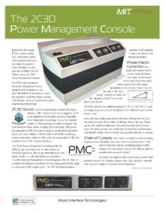 MIT Cables PMC Cutsheet